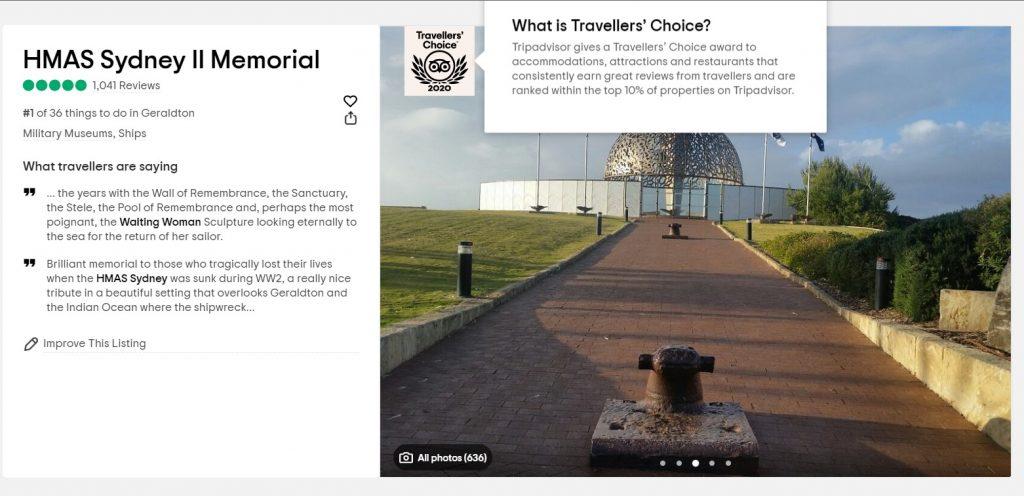 TripAdvisor – Traveler's Choice Awards 2020